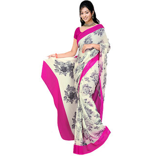 MD Textile Royal Beauty Pink Coloured Saree With Blouse