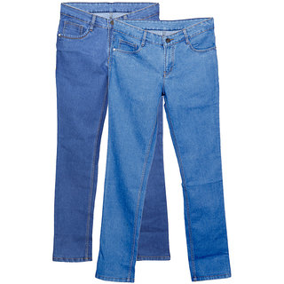 IndiWeaves Men's Slim Fit Jeans (Pack of 2)