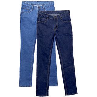 IndiWeaves Men's Slim Fit Jeans (Pack of 2)
