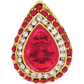 Gleaming Maroon CZ Stone Ring By 24Karats