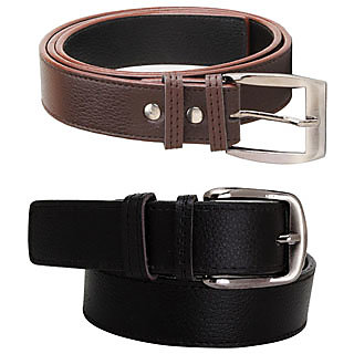 pack of 2 belts..black and brown