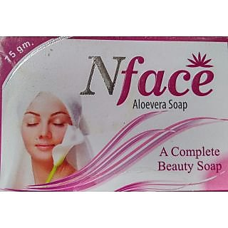 N Face Aloevera soap (set of 10 pcs.) - 75 gm Each