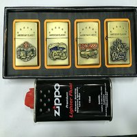 Big Sale Branded Earth Zippo Lighter Combo With Fluid (COMBO PACK 5 IN 1) Limited Offer - 97385213