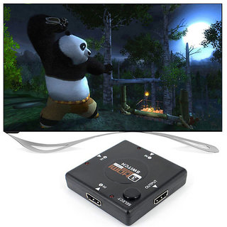 3 Port HDMI Switch Switcher Video/Audio Switch Hub Box for HDTV 1080P Blu-Ray Player PS3 Xbox 360 Laptop PC From SeCro