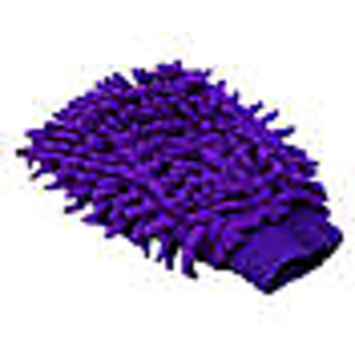Microfibre super mitt car cleaning and washing gloves