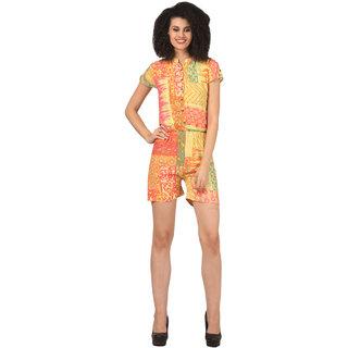 Atulya Geometric Print Womens Jumpsuit