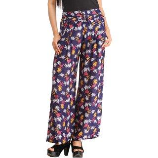Snoby Blue Rayon Printed Pyjamas (SBY2187)