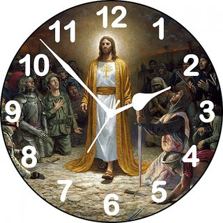 3D jesus wall clock