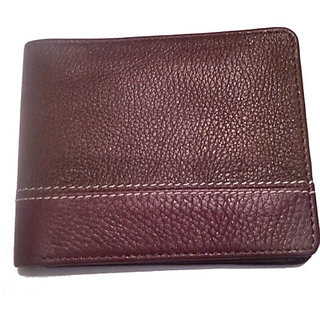 Green Layer Pure Leather Mens Wallet in Brown  Tan