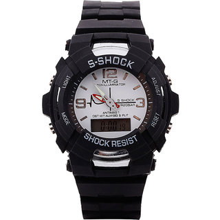 S-Shock Titanium Sports Multi-Function Watch With Light (Analog-Digital) White