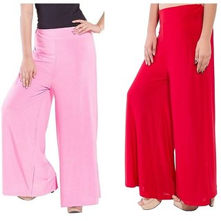 New Fashion Women  Combo pack of Casual Summer Palazzo Pants ,Plazzo Trousers for ladies Brand  @rk For  Women's And