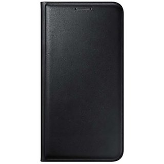 SpectraDeal Premium Leather Flip Cover For Vivo Y27 - Black