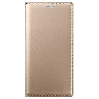 SpectraDeal Premium Leather Flip Cover For Lenovo K4 Note - Gold