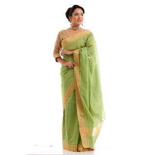 Pale Green Kota Cotton Saree