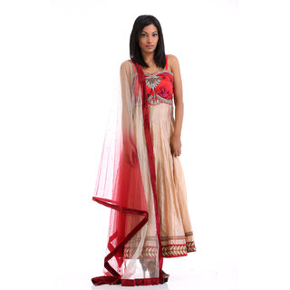 Silk Anarkali with Heavy Embroidered Yoke