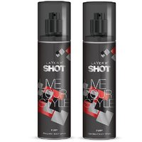 Layer'r Shot Live Your Style Fury Deodorant 135ml (pack Of 2)
