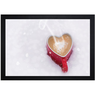 MLH Handicraft Gift Set Love Coffee With UV Print Canvas Painting