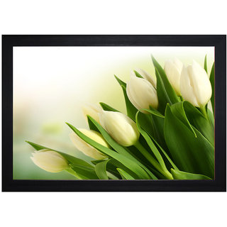 MLH Handicraft Gift Set Lily Flower With UV Print Canvas Painting