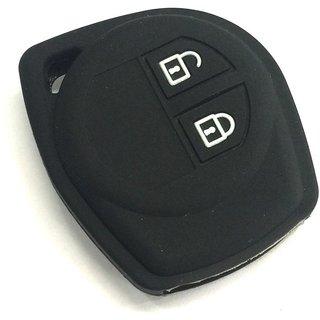 Autostark Silicone Key Cover Fit For Suzuki Ciaz, 2 Button Remote Key (Black)