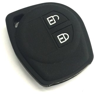 Autostark Silicone Key Cover Fit For Suzuki Swift, 2 Button Remote Key (Black)