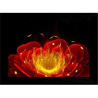 MLH Handicraft Gift Set Digital Flower With UV Print Canvas Painting