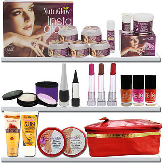 Ready To Party-Offer 2 Head To Toe Care With Facial Kit, Manicure-Padicure Kit, Make Up And A Cosmetic Pouch