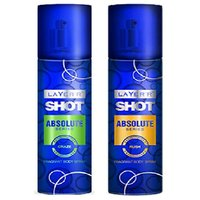 Layer'r Shot Absolute Craze, Rush Deodorant (pack Of 2) 135ml Each