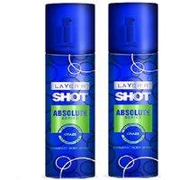 Layer'r Shot Absolute Craze Deodorant (pack Of 2) 135ml Each