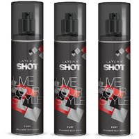 Layer'r Shot Live Your Style Fury Deodorant 135ml (pack Of 3)