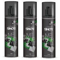 Layer'r Shot Live Your Style  Vibe Deodorant 135ml (pack Of 3)