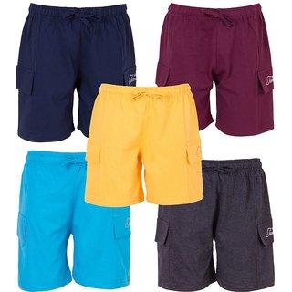 Ultrafit Junior Boys Cotton Short- Pack of 5