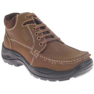 Khadim's Turk Mens Brown Safari Boots