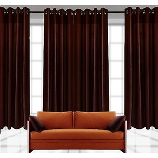 Dream Homz Rich Look Polyester Curtain Set (HF22)