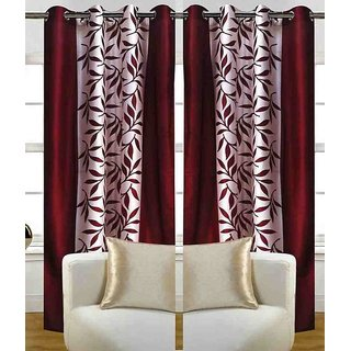 Dream Homz Rich Look Polyester Curtain Set (HF29)