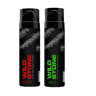 Wild Stone Burst, Drift Body Spray (pack of 2) 120ml each