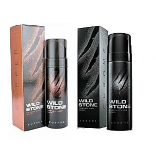 Wild Stone Copper, Chrome Body Spray  (pack of 2) 120ml each