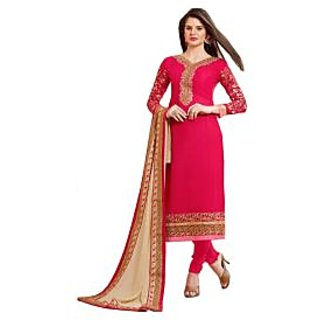 Georgette Designer Dress Material with Embroidery on front and arm, bottomInner Shantoon,  Dupatta