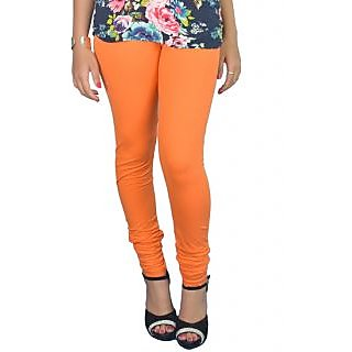 Pure Cotton made women leggings with colour guarantee (Orange XL)