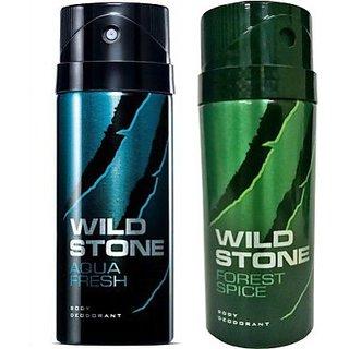 Wild Stone Aqua Fresh, Forest Spice Deodorant (Set of 2) 150ml each