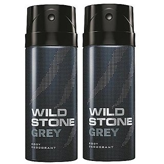 Wild Stone Grey Body Deodrant 150ml Set of 2 150ml each