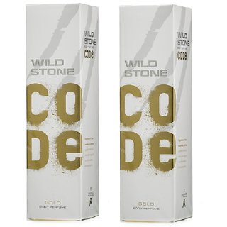 Wild Stone Code GOLD Body Spray (pack of 2) 120ml each