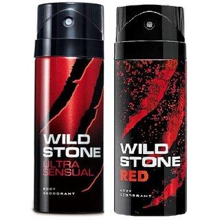 Wild Stone Red, Ultra Sensual Deodorant (Set of 2) 150ml each