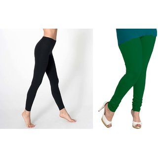 Pure Cotton made women leggings with color guarantee Set of 2 XL