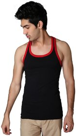 Mens slim white sleevlees vest-Pack of 1