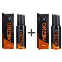 Mezno Mr. Hot- Long Lasting Fragrance Deodorant Body Spray For Men-24 Hrs Fresh Power-No Gas Deo-120ml(Buy 1 Get 1 Free)