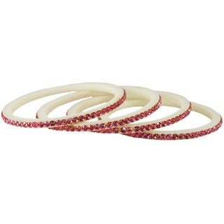 white Stone Acrylic Bangle