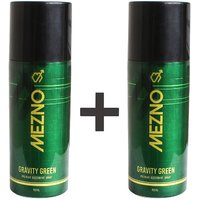 Mezno Gravity Green Refreshing Fragrance Deodorant Body Spray For Men - 24 Hrs Fresh Power Deo - 150ml(Buy 1 Get 1 Free)