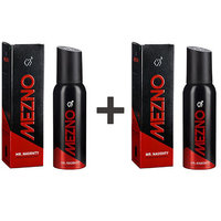 Mezno Mr. Naughty- Fresh Fragrance Deodorant Body Spray For Men-24 Hrs Fresh Power - No Gas Deo-120ml (Buy 1 Get 1 Free)