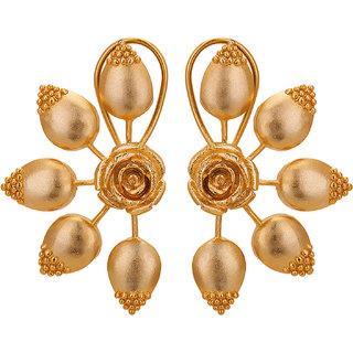 Studio Zivar Trendy Golden Wedding  Engagement Alloy Stud Earring
