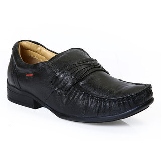 Red Chief Men'S Black Formal Slip On Shoes